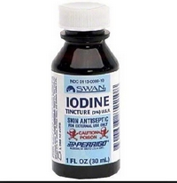 A bottle of iodine
